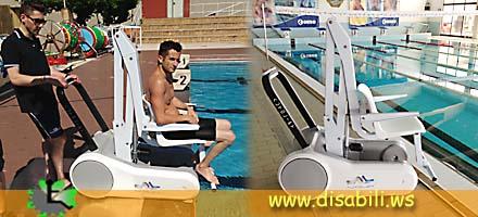 Sollevatore per piscina mobile i swim - Sollevatore piscina per disabili ...