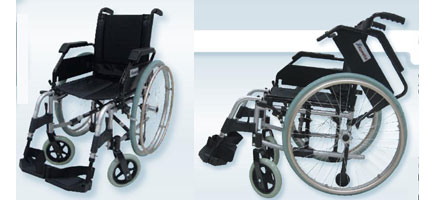 Sedia a rotelle meccanica e leggera a struttura in lega di for Sedia a rotelle kometa mediland