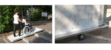 Rampe mobili disabili per superamento barriere architettoniche