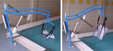 Sollevatore per piscina fisso a bussola con imbragatura - Sollevatore piscina per disabili ...