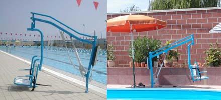 Sollevatore per piscina fisso a bussola con seggetta - Sollevatore piscina per disabili ...