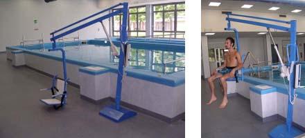 Sollevatore per piscina fisso a piastra pavimentale - Sollevatore piscina per disabili ...