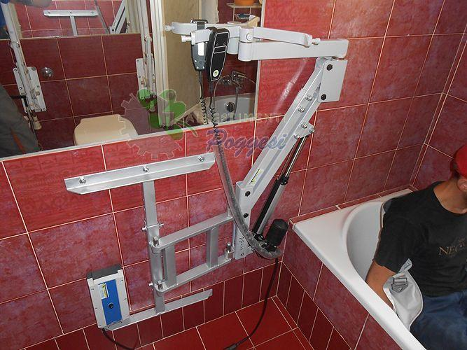 Sollevatore sollevapersone ausilio bagno per disabili - Sollevatore vasca da bagno ...